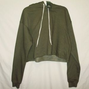 Wild Fable Womens Hoodie Size S Cropped Green New